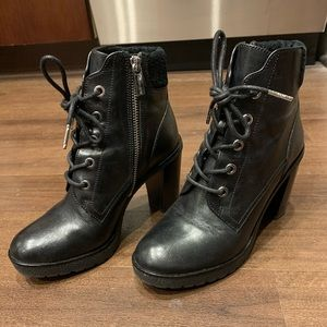 Michael Kors High Heel lace up combat boots